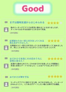 タップル 口コミ 評判