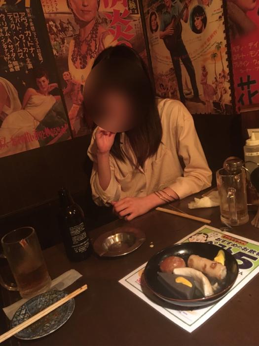タップルで会った女子大生と居酒屋