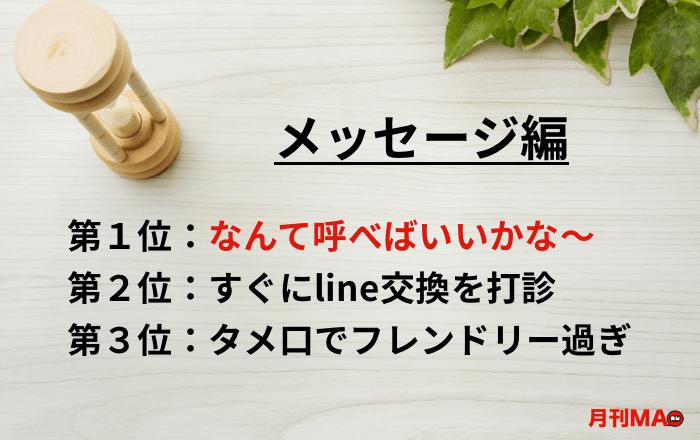 サクラ・業者の特徴&見分け方(メッセージ編)
